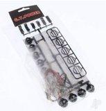 Rc verlichting dak of bumperset led 28973 GT Power LED Crawler Light Bar Set (5 or 4 Spotlight) _8