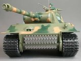 RC tank HL Panther 1:16 rook en geluid en gedetailleerde uitvoering met houten transportkist_8