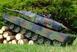RC tank Leopard 2A5  1:16  shooting 4