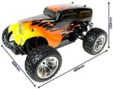 RC auto monster truck HOTROD 1:10 4WD 2.4GHZ 3