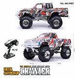 RC auto HG P407 1/10 2.4G 4WD Rc Car for TOYATO Metal 4X4 Pickup Truck Rock Crawler RTR graffiti_8
