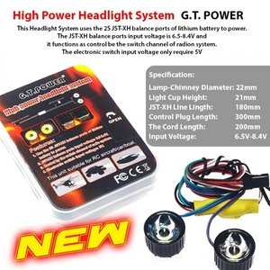 Rc  High Power led System 28967 GT POWER High Power Headlight System For Rc Model Aircraft / Car / Boat