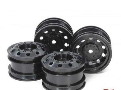 54741, RC On Road Racing Truck Wheels - Black