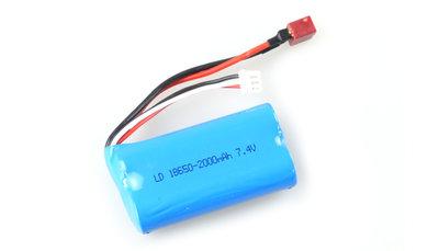 Batterij lipo voor auto's  7,4 V  2000 mAh met deans aansluiting