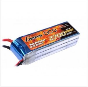Gens ace 2700mAh 11.1V 25C 3S1P Lipo Battery Pack with XT60 Plug