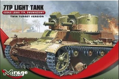 Bouwpakket Mirage-Hobby Mirage 726002 1/72 WWII 7TP Light tank German'