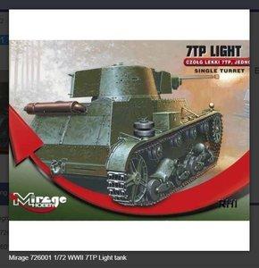 Bouwpakket Mirage-Hobby Mirage 726001 1/72 WWII 7TP Light tank German/