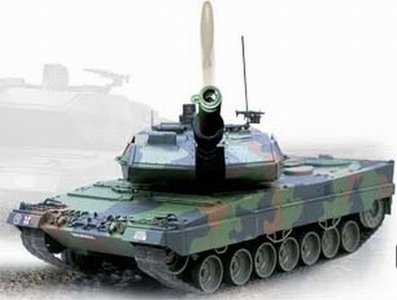 RC tank Leopard 2A5  1:16  shooting 5