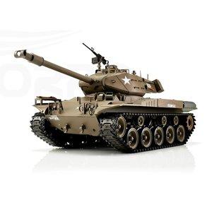 RC tank 1/16 RC M41A3 Walker Bulldog green BB+IR 2.4GHz  met schietfunctie rook en geluid en IR 1116038391