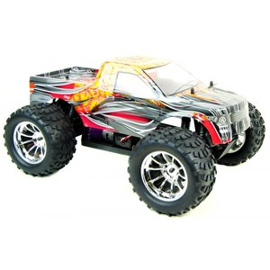 RC auto 1/10 monster truck BUG CRUSHER ELEKTRISCHE RC MONSTER TRUCK RTR - ORANJE VLAM RTR
