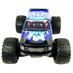 RC auto 1/10 monster truck BUG CRUSHER ELEKTRISCHE RC MONSTER TRUCK RTR - BLAUW IJS RTR