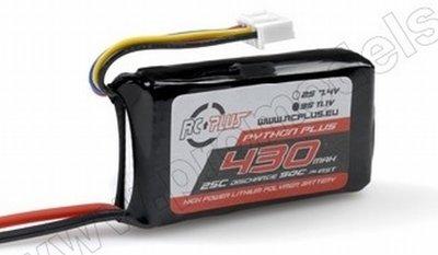 Lipo battereij Python plus 25-30C 430 3S1P 11,1V