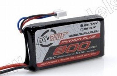 Lipo battereij Python plus 50C 800 2S1P 7,4V
