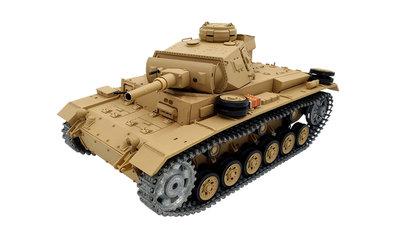 RC tank  TAUCHPANZER III 1:16 2,4GHZ PRO met rook en geluid metaalaandrijving en metalen tracks en houten kist