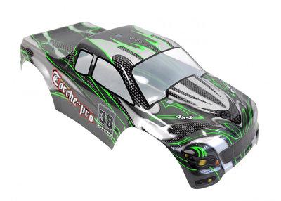 Body compleet afgelakt voor Monster truck 1:10 Groen