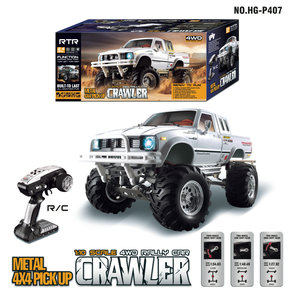 RC auto HG P407 1/10 2.4G 4WD Rc Car for TOYATO Metal 4X4 Pickup Truck Rock Crawler RTR