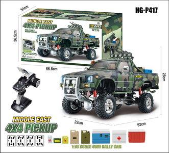 RC auto Hg P417 1/10 2.4G 4WD Rc Auto 4X4 Ep Pickup Voertuigen Rock Crawler Truck Rtr