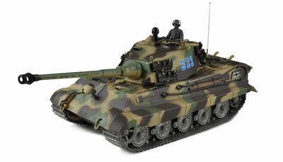 RC tank 23110 Köningstiger henschelturm 2.4GHZ pro-line met schietfunctie rook en geluid IR/BB V6.0S uitvoering metal tracks en loop en geleidewielen