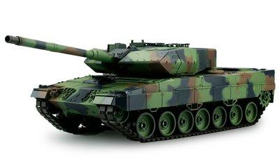 RC tank Heng Long Leopard 2A6  2.4GHZ  met schietfunctie rook en geluid V7.0 uitvoering