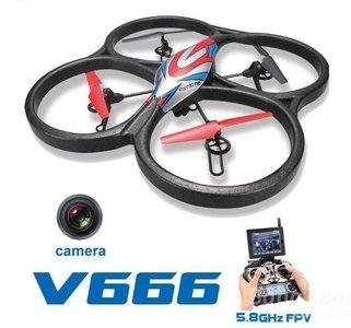 RC quadcopter WLtoys V666  FPV 6 Axis RC Quadcopter met HD Camera Monitor
