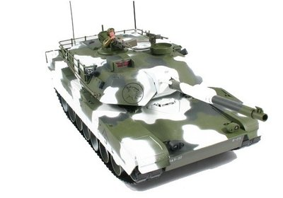 RC tank Abrams M1a1 winter 1:16 shooting