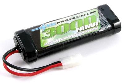 Batterij  7,2V  3000 mAh NiMH met Tamiya-stekker