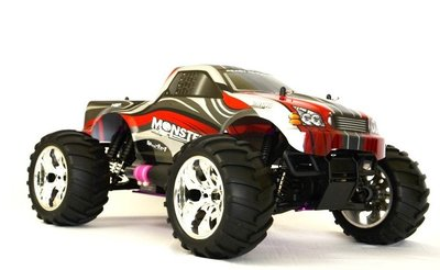 RC auto nitro HSP Monster Truck rood 70 km/h 1:10 2.4GHZ