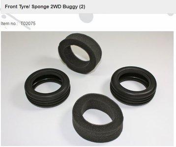 Team C T02075 Front Tyre/ Sponge 2WD Buggy (2)