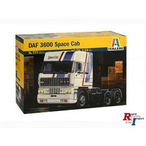 Italeri bouwpakket   DAF 3600 Space cab schaal 1:24 777