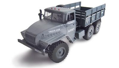 RC vrachtwagen Ural 4320 Leger vrachtwagen 6WD 1:16 RTR, grijs