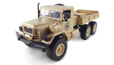 RC vrachtauto U.S. M35 leger vrachtwagen 6WD RTR 1:16, zandkleur / leger groen