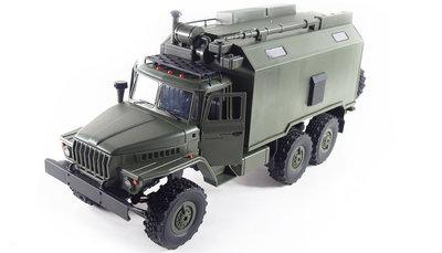 RC vrachtwagen Ural B36 leger vrachtwagen 6WD RTR 1:16, leger groen