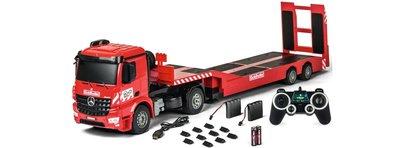 RC vrachtwagen C907307 CARSON MB Arocs Goldhofer 2.4GHz | RC Truck met rij-oplegger RTR 1/20