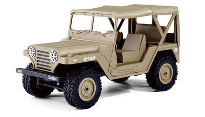 RC U.S. Jeep MS 151 militaire terreinwagen 1:14 4WD RTR, Dessert Sand