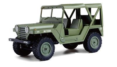 RC U.S. Jeep MS 151 militaire terreinwagen 1:14 4WD RTR, Dessert leger groen