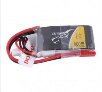 Tattu Lipo 2S 800mAh 7.4V 45C with JST-SYP Plug