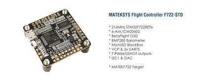Matek      Flight Controller F722-STD