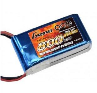 Gens ace Lipo 7.4v 800mah 40C 2S1P Lipo Battery Pack