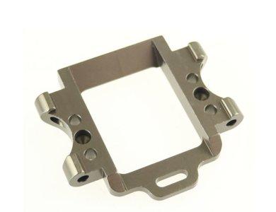 Onderdeel voor radiografische auto part nr 102260TI querlenkerhalter vorne Aluminium, gun metal