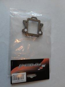 Onderdeel voor radiografische auto part nr 102261TI Querlenkerhalter hinten Aluminium, gun metal