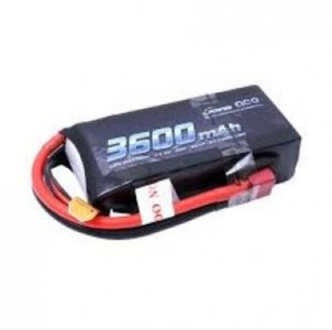 Gens ace 3600mAh 11.4V 3S1P 50C High Voltage Lipo Battery Pack with T-plug